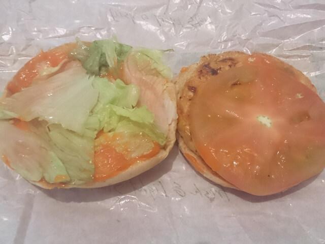 ベジタブルチキンバーガー