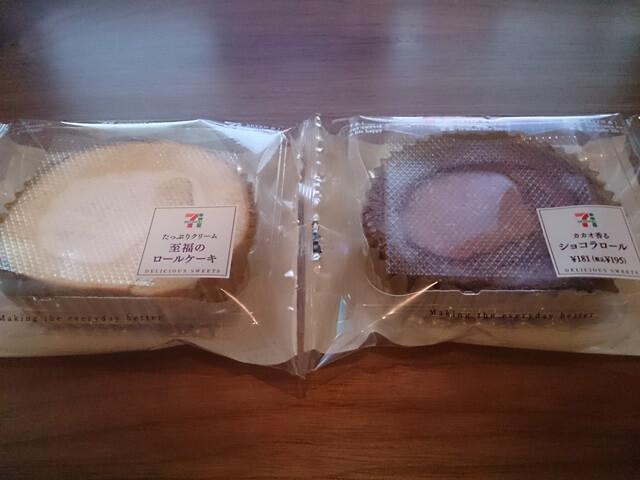 至福のロールケーキとショコラロールを食べてみた!セブンイレブンで人気のスイーツのお味は?